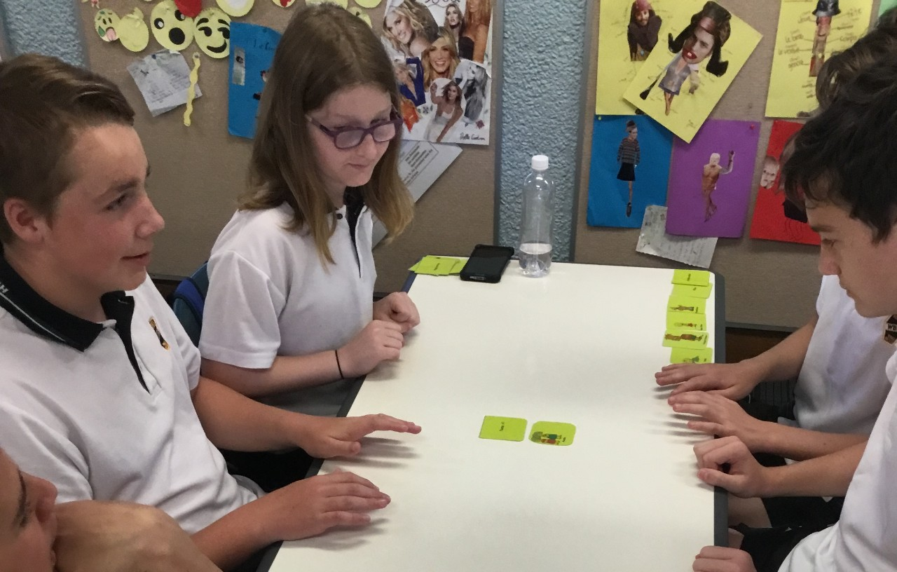 students playing snap